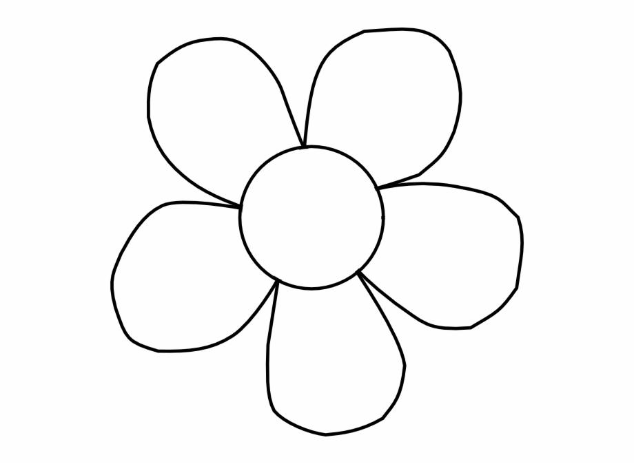 Line Art Flower Clipart Black And White {#2345376}.
