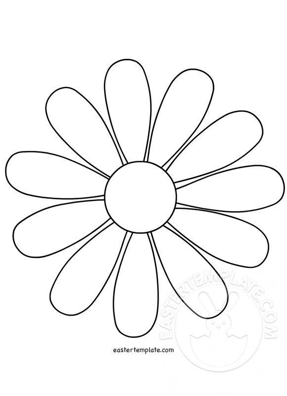 flower outline template.