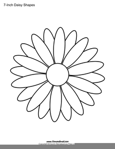 Daisy Outline Drawing.