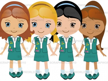 603 Girl Scout free clipart.