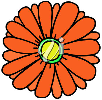 Clipart Illustration of a Flower.