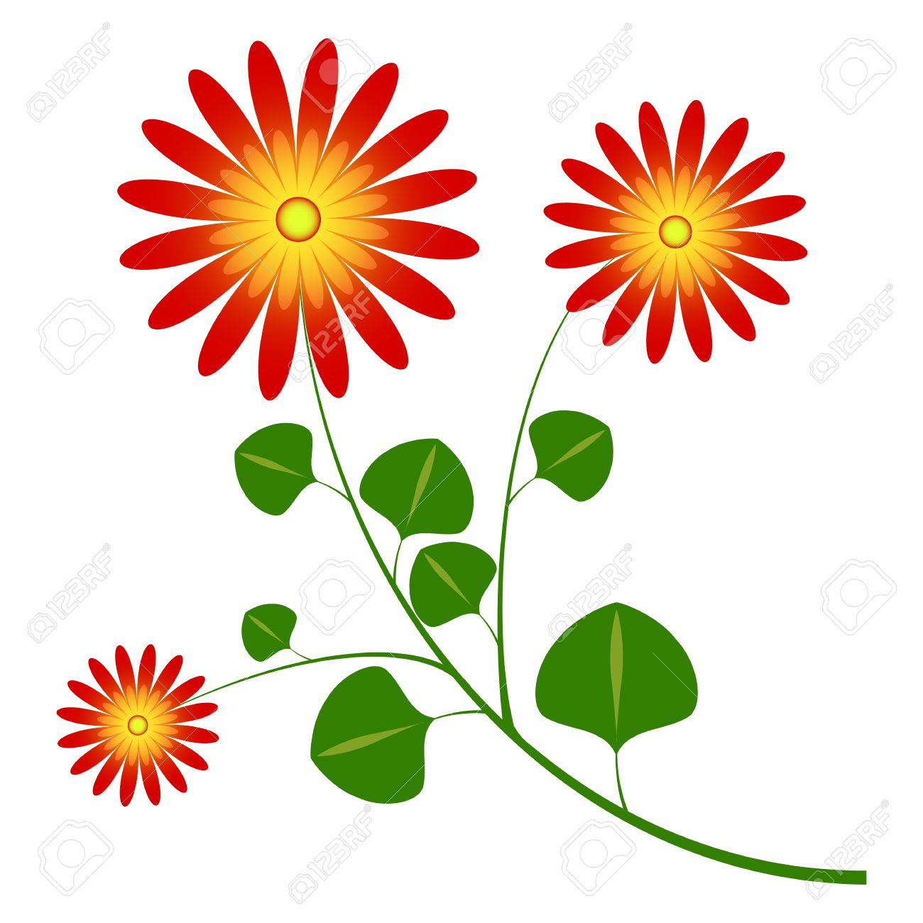 Flower Daisy Like Royalty Free Cliparts, Vectors, And Stock.
