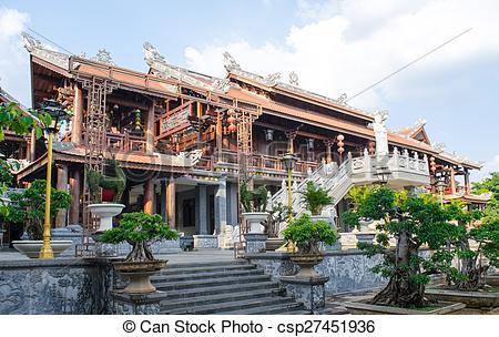 Stock Photos of Tu Sac Khai Doan pagoda Daklak, Vietnam.