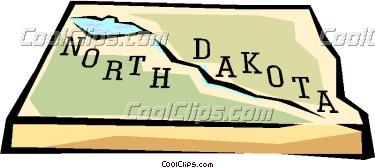 Clipart north dakota map.