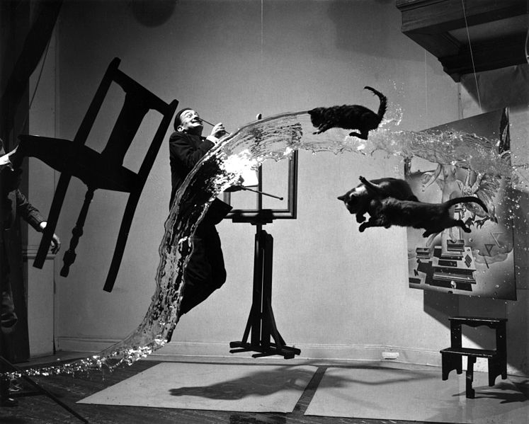 """Shooting Film: How The Famous """"Dali Atomicus"""" Photo Was Taken."""