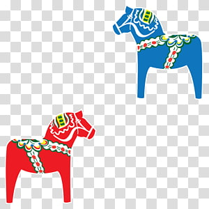 Dalecarlian Horse transparent background PNG cliparts free.