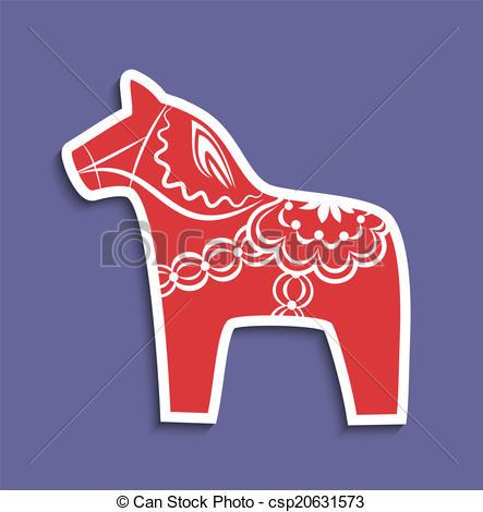 Dala horse Vector Clip Art Illustrations. 44 Dala horse clipart.