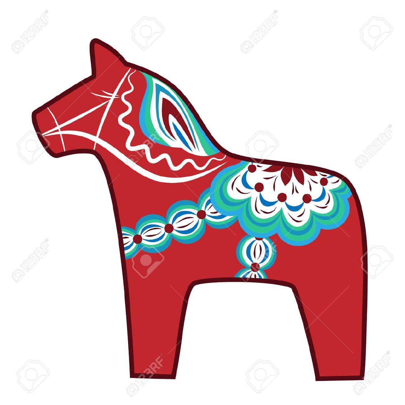 Free dala horse clipart.