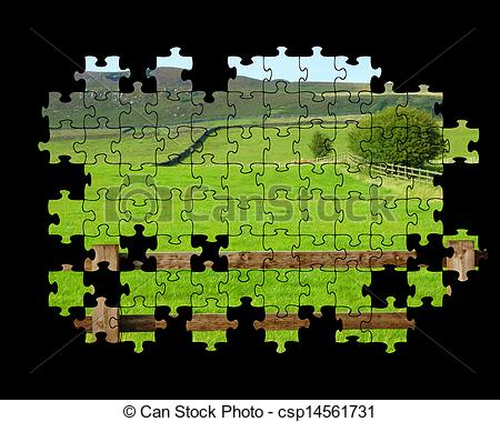 Drawings of Yorkshire Dales puzzle.