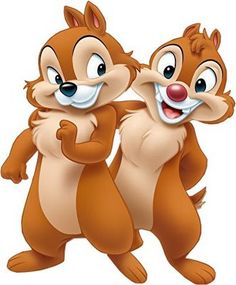 Chip And Dale Dancers Clipart.