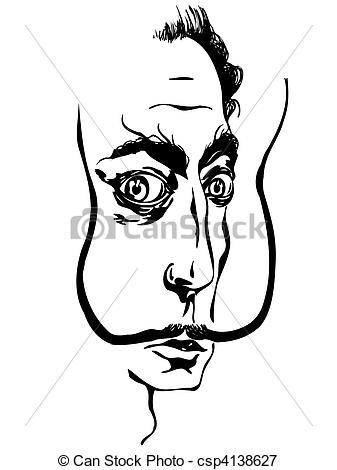 Stock Illustrations of Salvador Dali.