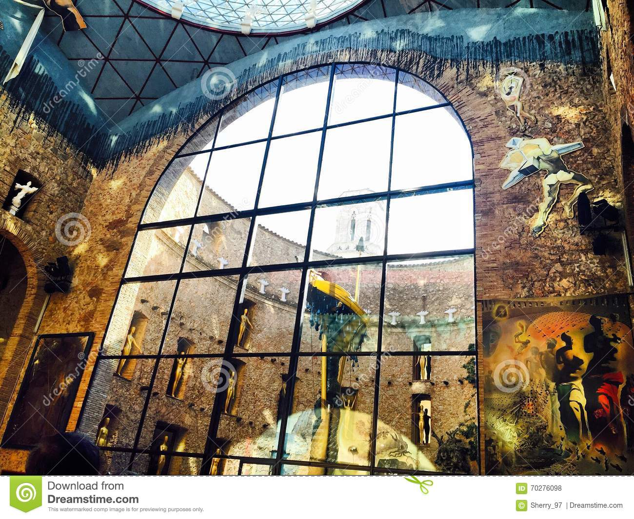The Dali Museum In Spain, Figueras Stock Photo.