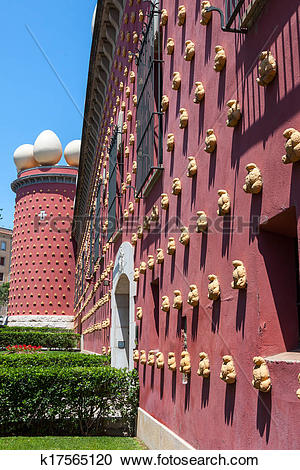 Stock Photography of Salvador Dali museum in Figueras, Spain.