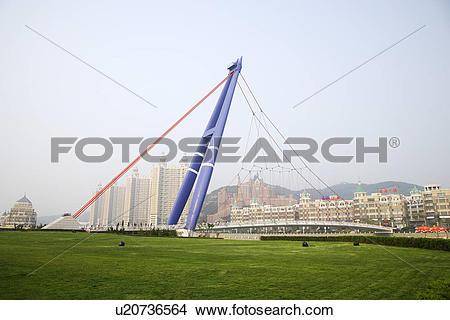 Stock Photo of China, Liaoning Province, Dalian, Xinghai Bay.