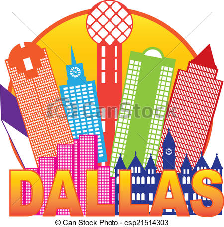 Dallas Clip Art and Stock Illustrations. 584 Dallas EPS.
