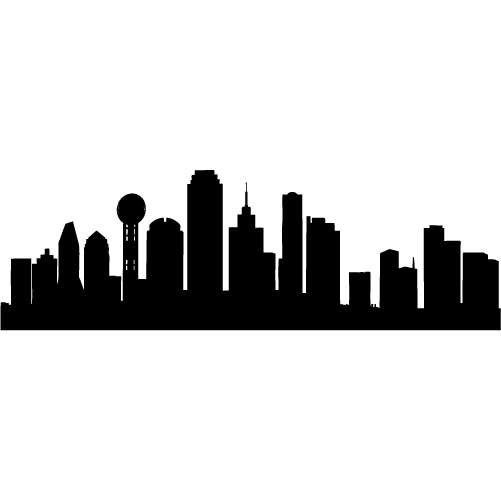 Dallas skyline clipart.