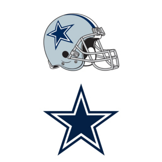 Dallas Cowboys Helmet & Logo Window Decal.