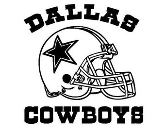 Dallas cowboys clipart black and white 2 » Clipart Station.