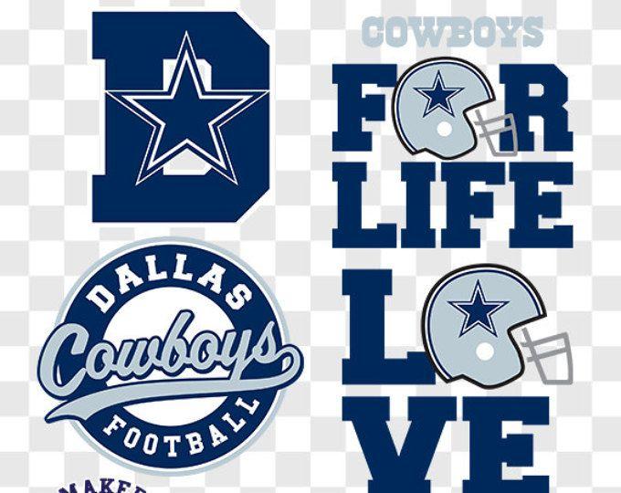 Dallas Cowboys SVG, Dallas Football Clipart, Cowboys Monogram.