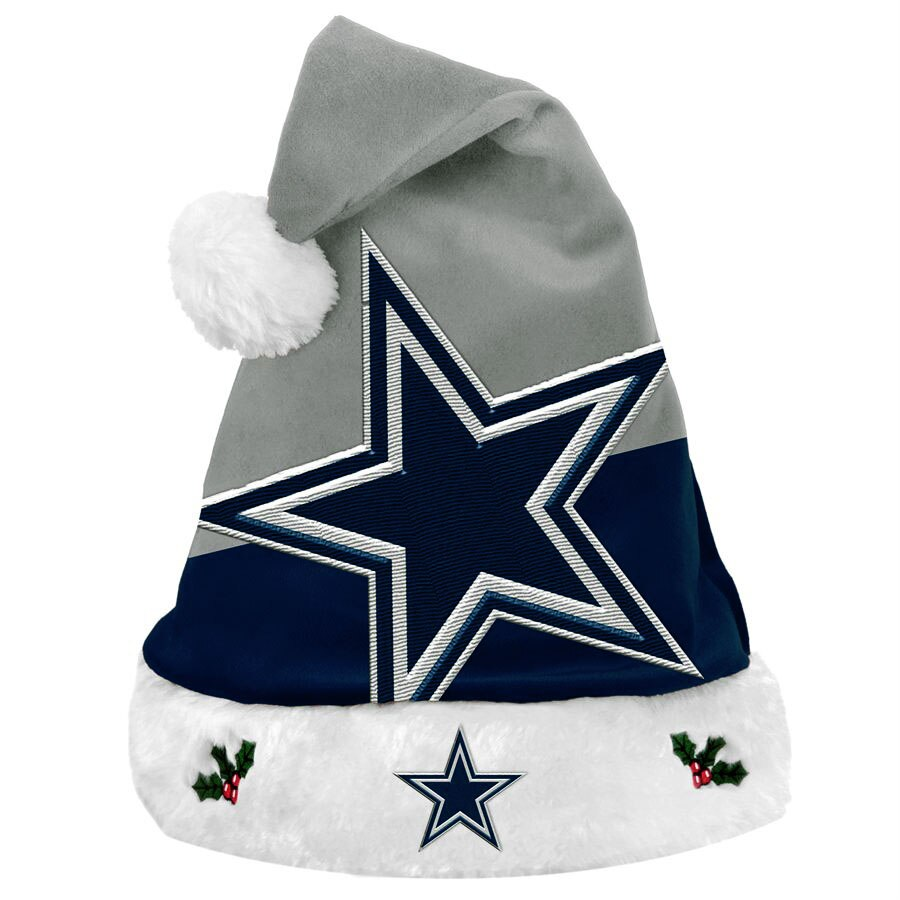 Dallas Cowboys Team Basic Santa Hat.