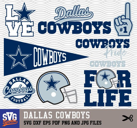 DALLAS COWBOYS SVG logos, monogram silhouette, cricut, cameo.