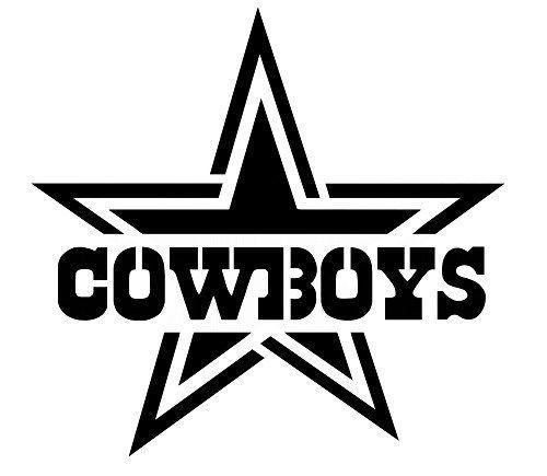 Dallas Cowboys Star Silhouette.
