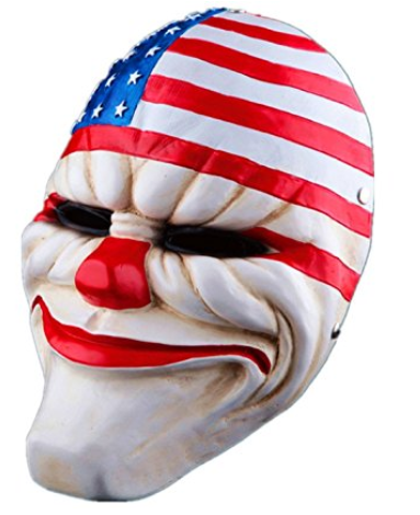 4PCS/Set of Payday2 Movie Mask : Dallas,Hoxton,Wolf,Chains Resin Mask.