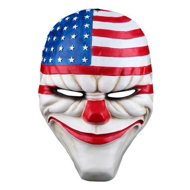 2016 Halloween PAYDAY 2 Dallas Mask Heist Joker Costume Props Cosplay Mask.