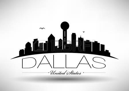 61 Dallas Skyline Vector Stock Vector Illustration And Royalty.