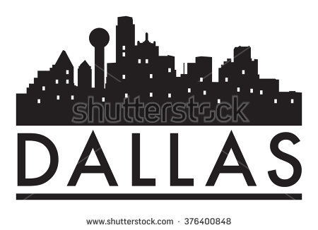 Dallas Skyline Stock Images, Royalty.
