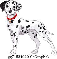 Dalmatian Clip Art.