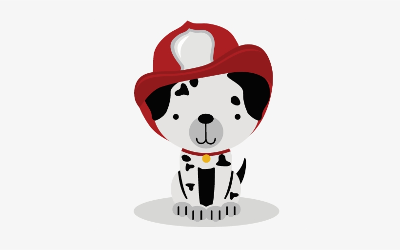 Firefighter Puppy Svg Cut File For Scrabpbooking Puppy.
