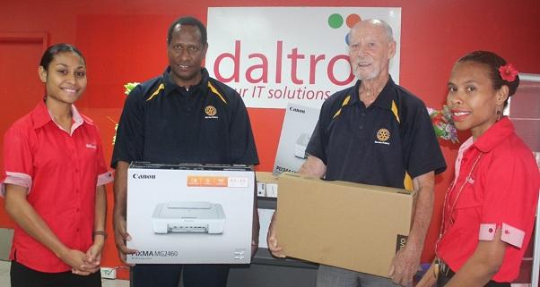 Daltron donates to Rotary Club of Boroko.