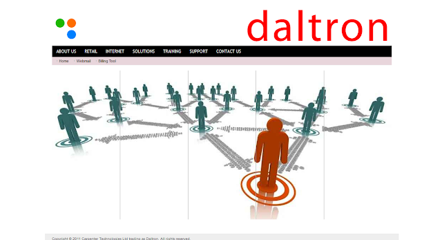 Daltron's new look website.