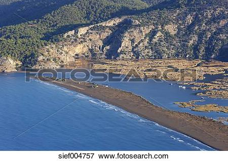 Picture of Turkey, Dalyan, Iztuzu beach with Dalyan Delta.
