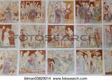 """Stock Photo of """"Passion of Christ, frescoes, around 1500, St."""