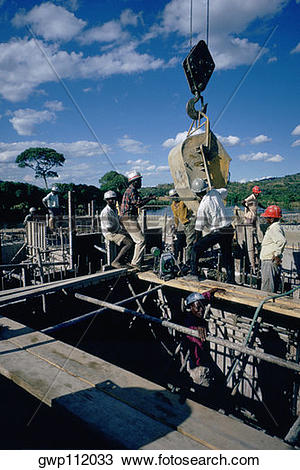 Stock Photo of Dam construction, Malawi gwp112033.