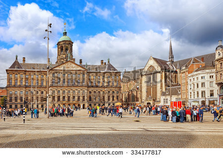 Dam Square Stock Photos, Royalty.