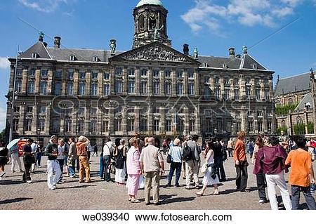 Stock Photography of Koninklijk Paleis (Royal Palace), Dam Square.