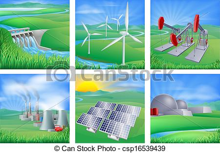 Vectors of Power and Energy Sources.