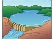 Water dam clipart.