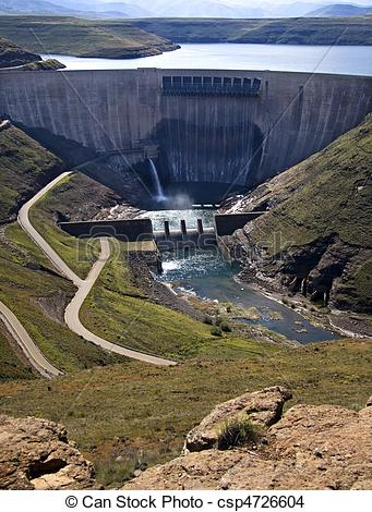 Stock Photo of dam wall.