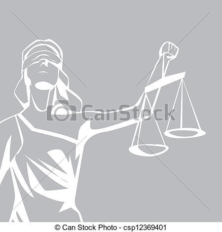 Vector Clip Art de Justicia, dama.