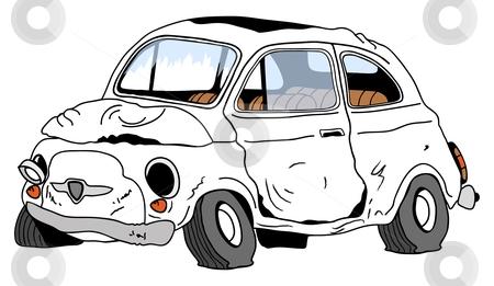 Old Broken Car Clipart.