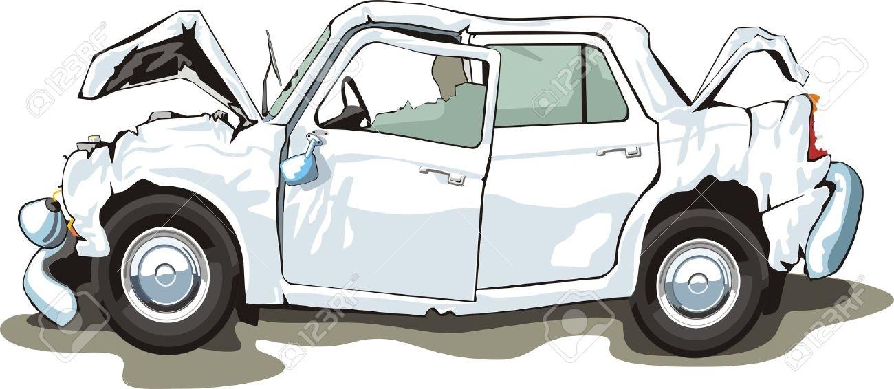 Damaged Car Clipart.