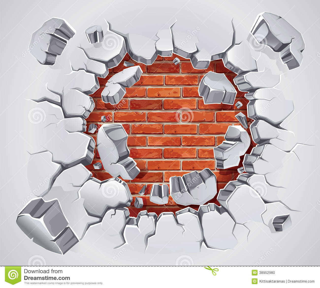 Does clipart damage walls.