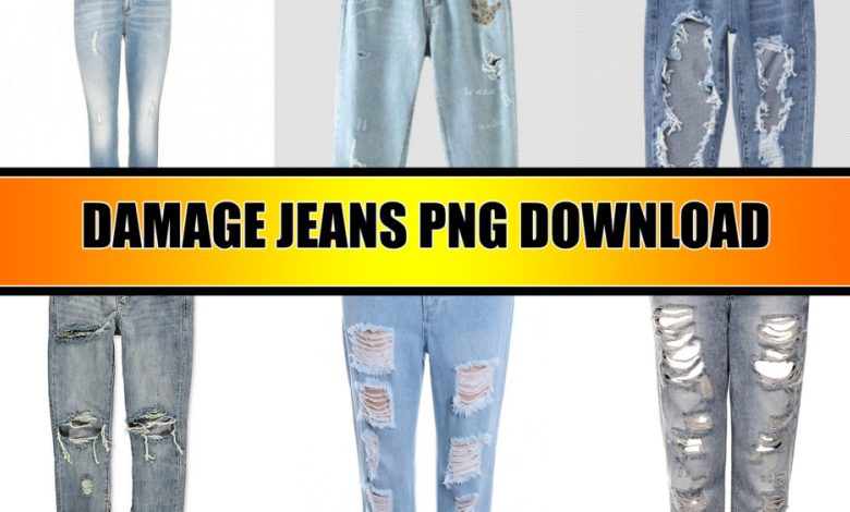 Damage Jeans Png download For Picsart and Photoshop.