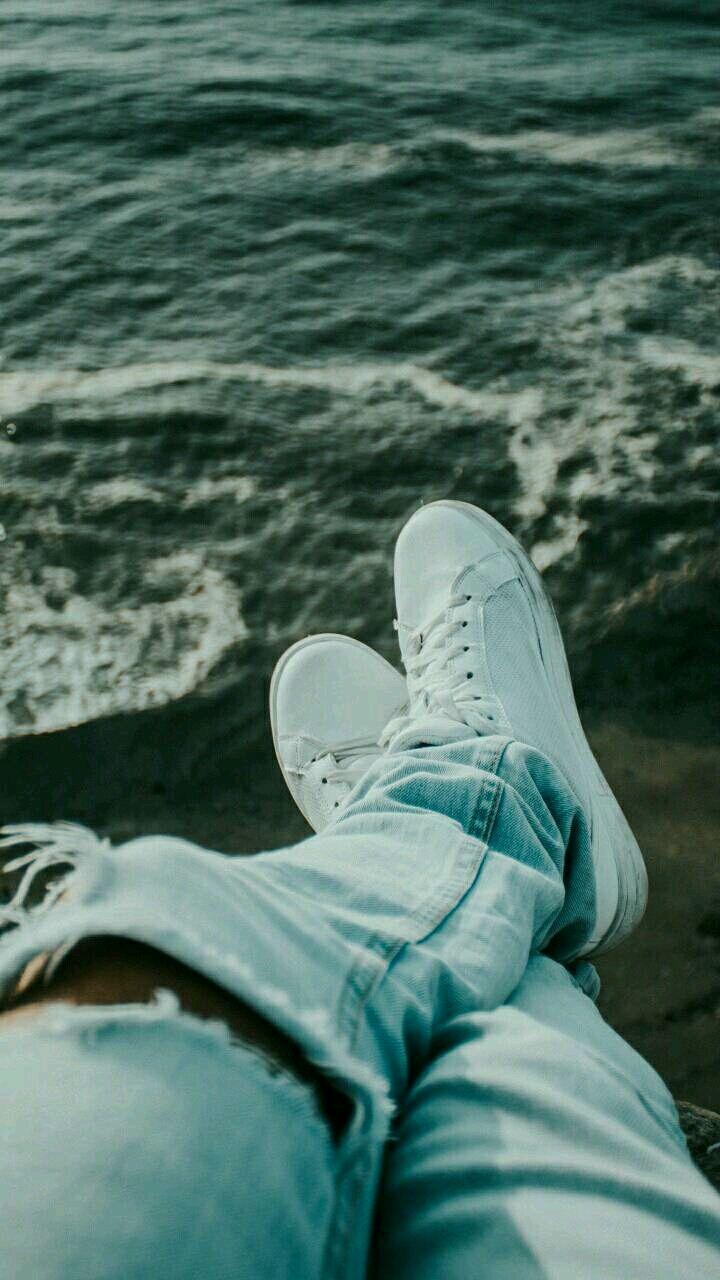 freetoedit ocean island boy shoe shoes damage jeans dam.
