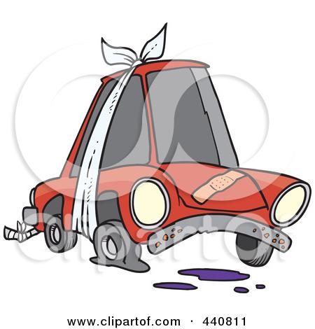 Damage car clipart.