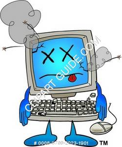 Illustration of Computer That is Damaged.